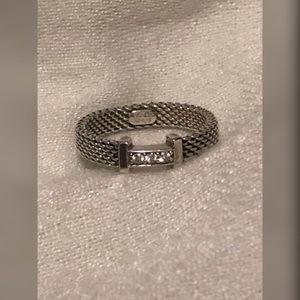 Tiffany Somerset 3 Diamonds 925 Ring Size 5.5-5.75